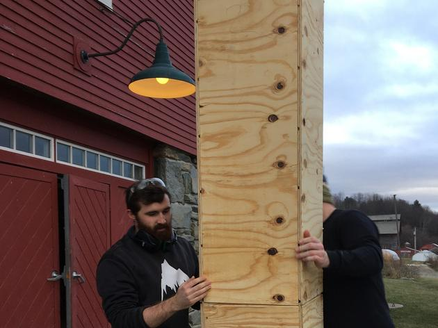 University of Vermont Students work with Audubon Vermont to Build a Chimney Swift Tower