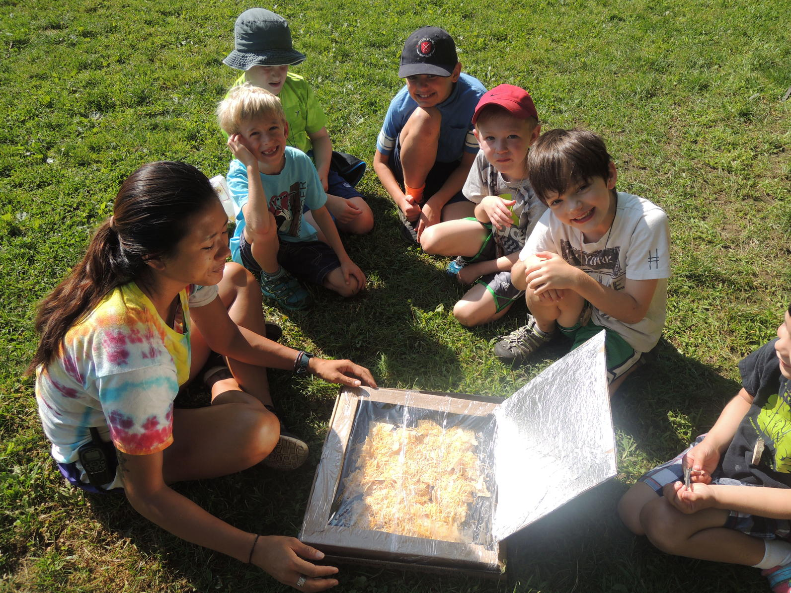 Solar Ovens at Camp