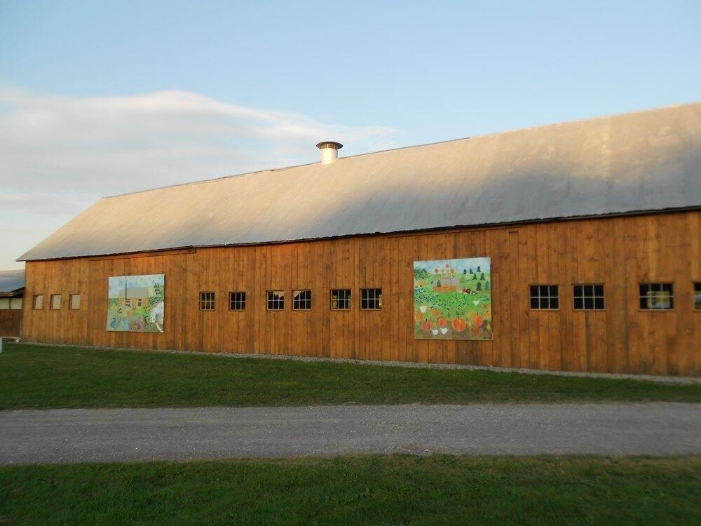 The cow barn turned into an event barn.