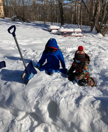 digging in the snow